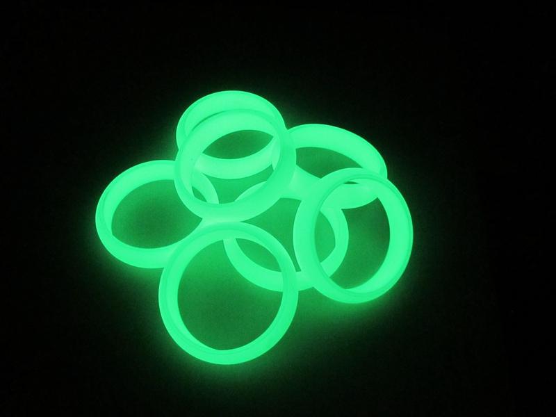 硅胶发光效果
